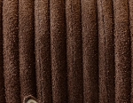 5MM Round Brown Suede