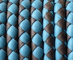 5MM Round Braided - Turquoise and Brown