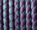 5MM Round Braided - Purple and grey
