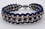 Crystal, Chain and Leather Kit - Silver and Blue