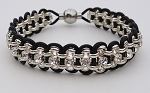 Crystal Chain and Leather Kit - Silver and Black