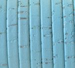 Cork 5mm Flat Leather per inch Baby Blue
