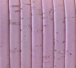 Cork 5mm Flat Leather per 2 YARDS Pink