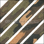 Flat Leather 10mm Camo Suede - per inch