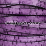 Flat Leather BARK 10mm - per inch PURPLE