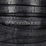 Flat Leather BARK 10mm - per inch Black
