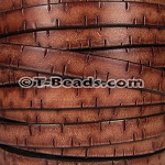 Flat Leather BARK 10mm - per inch TAN