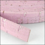 Cork 10mm Flat Leather per YARD Pink