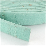 Cork 10mm Flat Leather per YARD Pale Turquoise