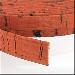 Cork 10mm Flat Leather per YARD Orange