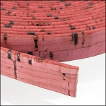 Cork 10mm Flat Leather per inch Dusty Rose