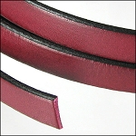 Flat Leather 5mm - per inch Plum/Black