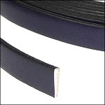 Flat Leather 10mm - per inch Deep Purple