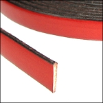 Flat Leather 10mm - per inch Rust