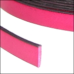 Flat Leather 10mm - per inch Fuchsia