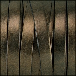 Metallic Flat Leather 10mm - per yard Bronze
