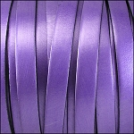 Metallic Flat Leather 10mm - per inch Purple