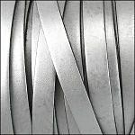 Flat Leather 5mm - per YARD Silver