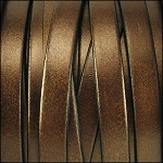 Metallic Flat Leather 10mm - per yard Brown