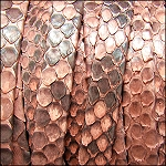 Python Flat Leather per inch Salmon
