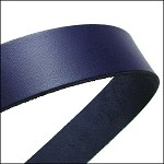 Flat Leather 20mm - per inch Navy