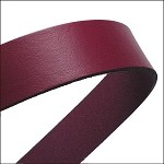 Flat Leather 20mm - per inch Bordeaux
