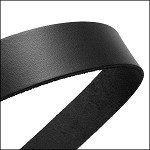 Flat Leather 20mm - per inch Black