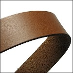 Flat Leather 20mm - per inch Tobacco