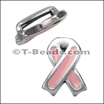Epoxy breast cancer ribbon ANT SILVER per piece