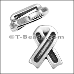Awareness ribbon ANT SILVER per piece
