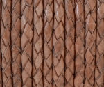 3mm Braided Round - Natural - per yard