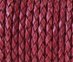 3mm Braided Round - Vintage Red - per yard