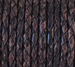 3mm Braided Round - Vintage Brown - per yard