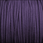 3mm round SUEDE Euro leather PURPLE - per 4 feet