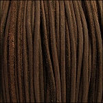3mm round SUEDE Euro leather BROWN - per 4 feet