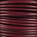 3mm Round Mediterranean Leather - Red/Violet per foot