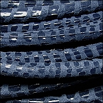 5MM ROUND CANCUN LEATHER PER INCH Denim - ONLY 36
