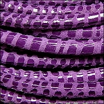 5MM ROUND CANCUN LEATHER PER INCH Mauve