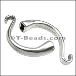 Bracelet Bar Hook Clasp (round leather)