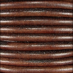5MM ROUND EURO LEATHER PER INCH - Distressed Brown