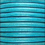 5MM ROUND EURO LEATHER PER INCH - Distressed Turquoise