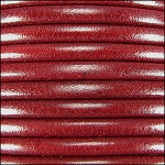 5MM ROUND EURO LEATHER PER YARD - Metallic Bordeaux