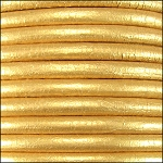 5MM ROUND EURO LEATHER PER INCH - Gold