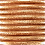 5MM ROUND EURO LEATHER PER INCH - Bronze