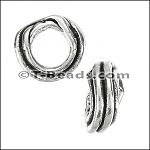 tube coil bead for 5mm ROUND leather per piece