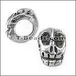 skull bead for 5mm ROUND leather per piece