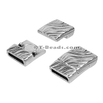 10mm flat WAVY magnetic clasp ANT SILVER