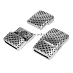 10mm flat MESH PRINT magnetic clasp ANT SILVER