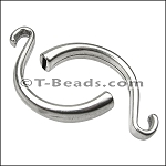 HOOK clasp  ANT SILVER per piece (flat leather)