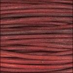Natural Dye 2mm Leather per 3 yards Red